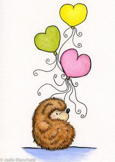 """(✿´ ꒳ ` )ノ                                                            """"Hedgehog's Balloons"""""""