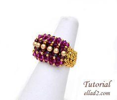 El tutorial para el anillo Malina es bien detallado, con instrucciones claras, paso a paso con fotografías de cada paso.