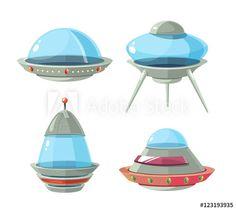 https://stock.adobe.com/stock-photo/cartoon-alien-spaceship-spacecrafts-and-ufo-vector-set/123193935