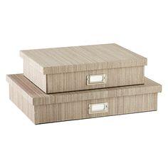 Latte Parker Office Storage Boxes $24.99 - $27.99