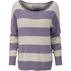 Superdry Edie crew jumper ($69) ❤ liked on Polyvore featuring tops, sweaters, shirts, jumpers, knitwear, purple, women, embroidered shirts, embroidered logo shirts and crew knitwear