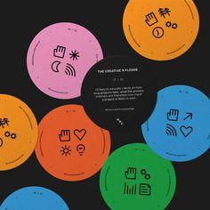 Play — Andy Webb Gfx Design, Layout Design, Design Art, Print Design, Graphic Design Posters, Graphic Design Inspiration, Typography Design, Badges, Badge Design