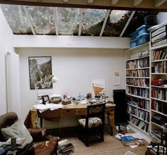 Martin Amis, novelist. | 40 Inspiring Workspaces Of The Famously Creative