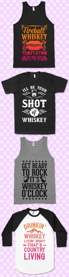 Anytime is Whiskey O'Clock, celebrate with any of these cute whiskey designs.