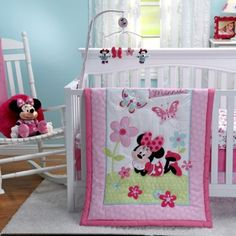 Another great find on Minnie Mouse Three-Piece Crib Comforter Set by Crown Crafts Nursery Bedding Sets Girl, Baby Nursery Furniture, Nursery Room Decor, Girl Nursery, Minnie Mouse Nursery, Disney Bedding, Baby Room Themes, Bedding Collections, Comforter Sets