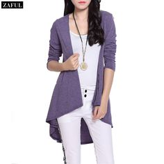 Aliexpress.com : Buy ZAFUL Casual Sunscreen Knitwear Women's Cardigan 2015 Simple Design Long Sleeve Solid Color Plus Size Long Cardigan from Reliable cardigan baby suppliers on ZAFUL  | Alibaba Group