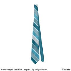 Shop Shades of Teal Blue Diagonal Striped Neck Tie created by Personalize it with photos & text or purchase as is! Wedding Color Schemes, Wedding Colors, Shades Of Teal, Custom Ties, Neckties, Unique Image, Teal Blue, Art For Kids, Night Out