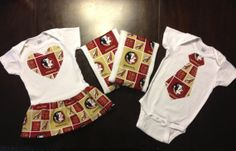 Florida State Seminole Twin Boy/Girl Set $50.00  HOLY crap! I know I can make these!!