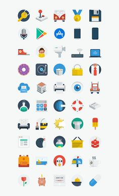 Discover more of the best Icons, Flat, Ui, Pro, and 1 inspiration on Designspiration Design Ios, Flat Design Icons, Icon Design, Logo Design, Graphic Design, Design Thinking, Icons Web, L Icon, Web Mobile