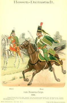 Knötel-Tafel 08/09   Hessen-Darmstadt. Husaren-Corps. 1763.