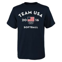 USA Softball Very Official National Governing Body T-Shirt - Navy - $13.99