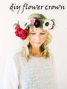 DIY - FLOWER CROWN | DIY Wedding Flower Projects Buy bulk wholesale flowers online www.bulkwholesaleflowers.com #diyflowers #flowercrown #diywedding Photographer:  Love by Serena
