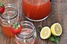 """Strawberry Basil Lemonade"" #spring #recipe #lemon"