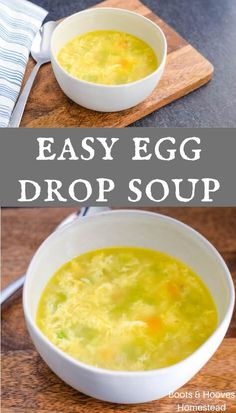 This easy egg drop soup recipe is a snap to make. It only takes a few simple ingredients and about 20 minutes for a super simple yet incredibly delicious meal. Easy Egg Recipes, Asian Recipes, Healthy Recipes, Chowder Recipes, Soup Recipes, Recipies, Cookie Recipes, Vegan Kitchen, Kitchen Recipes