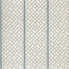 BAMBOO TRELLIS Wallpaper, fern, cream - Cowtan & Tout Design Library#bamboo #cowtan #cream #design #fern #library #tout #trellis #wallpaper Bamboo Trellis, Trellis Wallpaper, Bamboo Crafts, Blue Home Decor, Pattern Books, Sisal, Ferns, Slipcovers, Modern