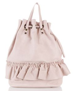 RED Valentino Leather Backpack Tote