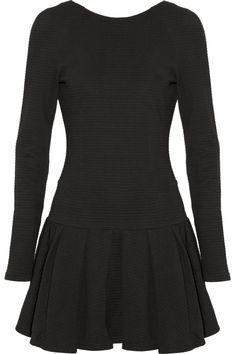 cute shape. love the long sleeves with the very fitted bodice  KENZO Scoop-back ribbed cotton dress NET-A-PORTER.COM