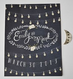 TOTALLY OBSESSED with First Snow!!! Love her!!    Moonlight wedding sign customized with names and by firstsnowfall, $75.00