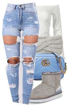 """""""key lime oG"""" by monet-princessa on Polyvore featuring Portolano, Gucci and UGG"""