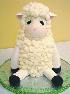 Little Lamb Baby Shower Cake ~ so sweet!