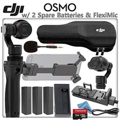 This Kit Includes: 1- #DJI Osmo Handle for Handheld 4K Camera and 3-Axis Gimbal 1- Zenmuse X3 Handheld Gimbal and Camera* 1- Osmo Phone Holder 3- Osmo Intelligen...
