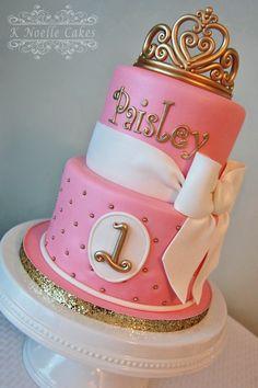 Princess theme 1st Birthday Cakes by K Noelle Cakes
