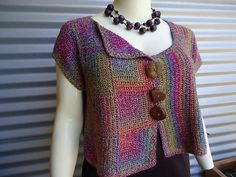 Jenny King--this is knit, but it could easily be done with hand woven fabric