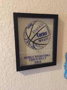 Personalized coach gift with player names. Volleyball gift, baseball gift, basketball gift, softball gift, tennis gift by prettyhandsome on Etsy https://www.etsy.com/listing/248507423/personalized-coach-gift-with-player