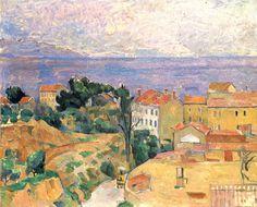 """""""View of L'Estaque,"""" 1883, Paul Cezanne."""