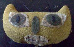 Folk Art Wool Felt Cat
