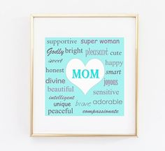 Mothers Day Poster Instant digital download by OMyGlam on Etsy