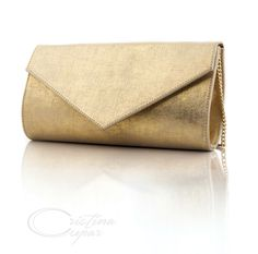 Luxury leather clutch handcrafted