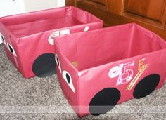 "CARS ""Drive In"": Help your kids create adorable decorated cars to sit in while watching the movie, ""Cars""."