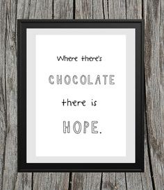 Chocolate=Hope'' A4 Print Poster Schoko Druck von Lottes Laden auf DaWanda.com