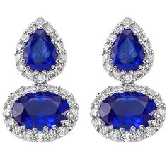 Diamond and Sapphire Earrings at Houston Jewelry