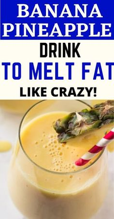 It will increase your metabolism very quickly and your body will burn calories in a magical way. Weight Watcher Smoothies, Fat Burning Smoothies, Fat Burning Drinks, Weight Loss Drinks, Pineapple Drinks, Banana Drinks, Pineapple Slices, Freezer Smoothies, Healthy Smoothies