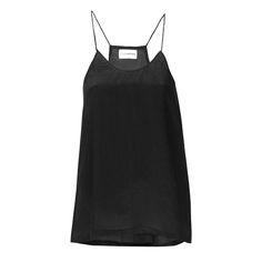 Black singlet top  Crepe Silk ATELIERAMSTRDM 2015
