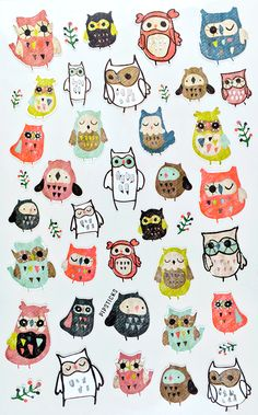 WhoOo doesn't love owl stickers!? Owl tell ya who, people who don't like fun! #fun #stickers  Keep up with these stickers and all the other stickers we heart on the Pipsticks blog!