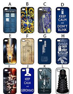 iPhone 5 Doctor Who Cases. I like B. and E. and H! Only I have a 4S not a 5...