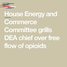 House Energy and Commerce Committee grills DEA chief over free flow of opioids — The Washington Post House Energy and Commerce Committee grills DEA chief over free flow of opioids Internal Audit, Moving Overseas, Holding Company, The Washington Post, Grills, Flow, Sport, House, Deporte
