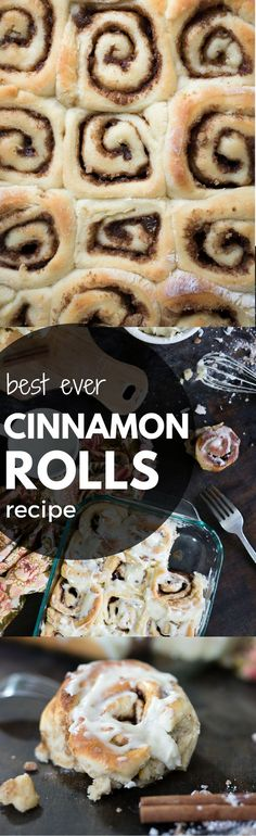These soft and fluffy homemade cinnamon rolls taste even better than Cinnabon. This is the best ever recipe I've found for cinnamon rolls and is so easy!