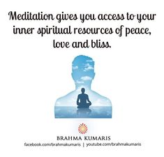 Meditation is a means of transforming the mind.It is a simple practice available to all, which can reduce stress, increase calmness and clarity and promote happiness Rajyoga Meditation, Meditation Benefits, Brahma Kumaris, Om Shanti Om, Sister Quotes, In This World, Slogan, Spirituality, Stress