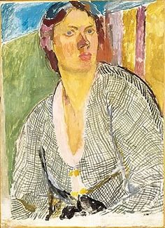 Self-portrait by Vanessa Bell, circa 1915.  Collection of Yale Center for British Art
