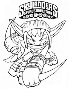 skylanders spyros adventure coloring pages for kids 8