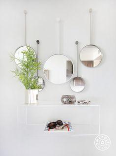 acrylic box shelf... Our Designer's Cozy, Inviting LA Home - @Homepolish Los Angeles