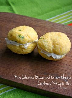 ... and Sue: Mini Jalapeno Bacon And Cream Cheese Cornbread Whoopie Pies