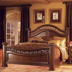 Cheap Bedroom Sets, Wood Bedroom Sets, Pine Bedroom Furniture, Bedroom Bed Design, Furniture Mattress, Mansion Bedroom, Home Bedroom, Bedroom Decor, Bedroom Ideas