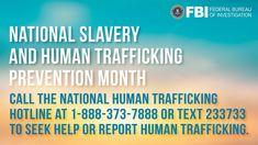 Human Trafficking/Involuntary Servitude — FBI Federal Law Enforcement, Law Enforcement Agencies, Stop Human Trafficking, Innocence Lost, Reunification, Federal Bureau, Behavioral Science, Violent Crime