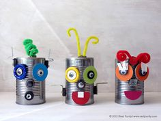 Create - Fun Arts & Crafts Ideas and Creative Activities for Kids Tin Can Crafts, Fun Arts And Crafts, Vbs Crafts, Book Crafts, Crafts For Kids, Maker Fun Factory Vbs, Robot Theme, Magnetic Toys, Robots For Kids