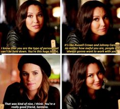 Santana is a great friend... Even though she can be mean sometimes
